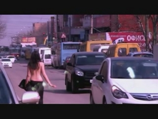 Top less sexy streetwalker