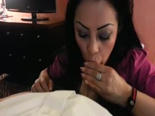 My new secretary swallow cum