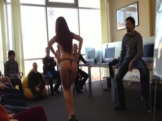 A stripper to motivate the marketing department