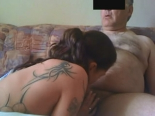 Old man blowjob
