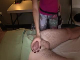 Perfect massage for my balls and cock