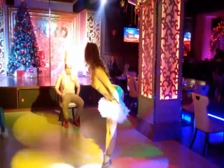 Hot Russian stripper dancing