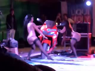 Showgirls in superbike party