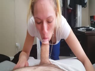 Facefucking session with blonde escort