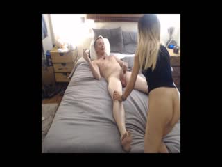 Facefucking session with blonde prostitute