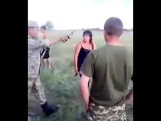Soldiers waiting their turn to fuck with cheap prostitute