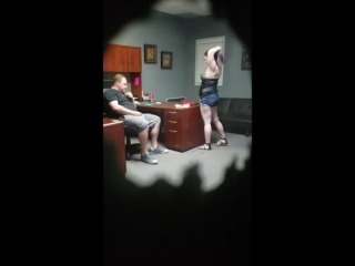 Hidden camera! Fucking a economic Escort in my office!