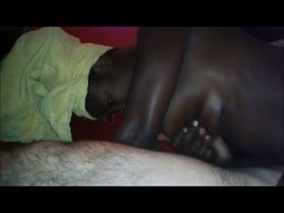 Cumshot in pussy black hoe