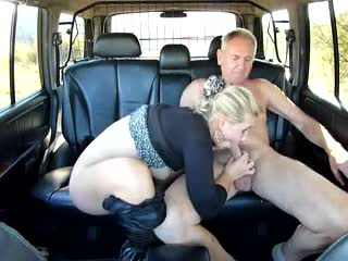 Beautiful blonde streetwalker fucks in my truck